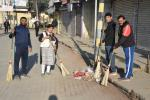 Cleanliness drive on the last day of the year